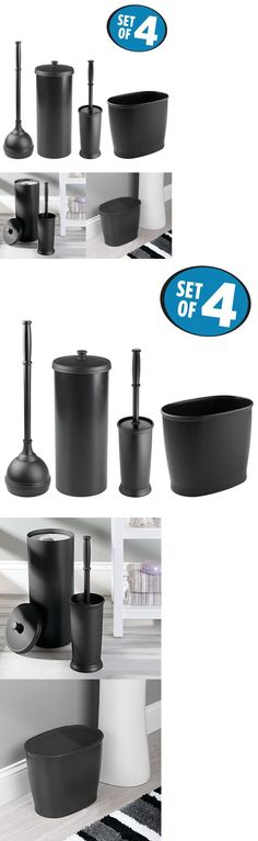 Toilet Brushes and Sets 66723: Bathroom Accessories Set Plunger W Holder Toilet Paper Holder Toilet Bowl Trash -> BUY IT NOW ONLY: $69.61 on eBay!