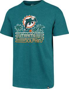 '47 Men s Miami Retro Logo Aqua T-Shirt 5b9a2865e