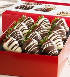 Fannie May Decadent Chocolate Strawberries - Fannie May Decadent 12 ct Strawberry