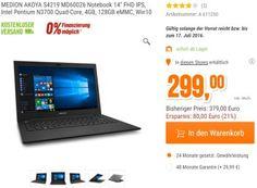 Notebook-Schnäppchen: Medion Akoya S4219 mit 128 GB Flash-Speicher für 299 Euro https://www.discountfan.de/artikel/technik_und_haushalt/notebook-schnaeppchen-medion-akoya-s4219-mit-128-gbyte-flash-speicher-fuer-299-euro.php Mit dem Medion Akoya S4219 ist bei Notebooksbilliger.de ab sofort ein Office-Notebook mit Full-HD-Display, Quadcore-CPU, 128 GByte Flash-Speicher und vier GByte RAM für 299 Euro zu haben. Office 365 gibt es optional für 25 Euro dazu. Notebook-Schnäp