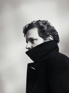 Colin Firth in great coat