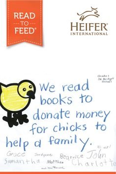 Read to Feed is a unique reading-incentive program that empowers students to give back to families in need! Download printable lesson plans, teacher's guides, and activity sheets for grades PreK-6. Visit heifer.org to learn more!