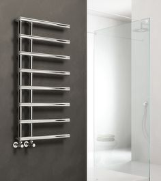 Order this Reina Matera Vertical Steel Heated Towel Radiator today from Only Radiators at this great price and receive top Customer Care with Free UK Delivery Bathroom Towel Radiators, Bathroom Towel Rails, Bamboo Bathroom, Modern Bathroom Decor, Modern Bathroom Design, Bathroom Furniture, Bathroom Ideas, Kitchen Design, Bathroom Vanities For Sale
