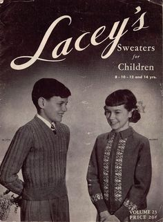 Vintage Knitting Patterns Laceys Sweaters Children Cardigan School 8-14  #Laceys #KnittingPatterns