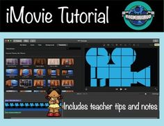 iMovie can be used for every subject and many video projects all year long. This tutorial has step by step instructions for students to create the best projects and teacher instructions with tips. Storyboards and brainstorming worksheets are also included. Teacher Sites, Teacher Hacks, Teacher Resources, Teaching Ideas, Flipped Classroom, Interactive Activities, Thing 1, Elementary Education, Educational Technology