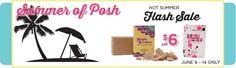 Summer of Posh - Hot Summer Flash Sale - June 8 - 14 Only - Hippie Scrubber & Polka-Dot Peppermint Soap Chunks on Sale $6 - regular $9!  www.perfectlyposh.com/poshedbyolivia/specials
