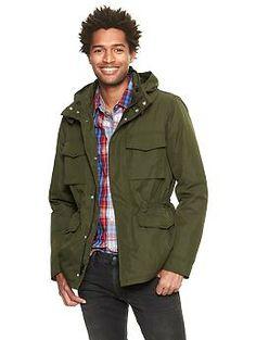 Filled fatigue jacket #Gap