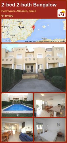 2-bed 2-bath Bungalow in Pedreguer, Alicante, Spain ►€130,000 #PropertyForSaleInSpain