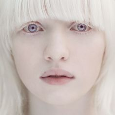 "crystallized-rose: "" lilac-smokesss: "" Albino model. Wow, she's so beautiful *__* Her name is Nastya Kumarova"