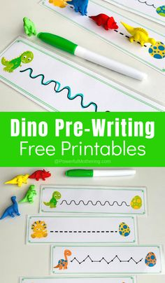 Dino Pre-Writing Printable Activities - - A fun and free printable Dino pre-writing activity for toddlers and preschoolers. Kids will love playing while learning important skills. Writing Activities For Preschoolers, Handwriting Activities, Preschool Writing, Preschool Learning Activities, Toddler Activities, Family Activities, Dinosaur Classroom, Dinosaur Theme Preschool, Pre Writing Practice