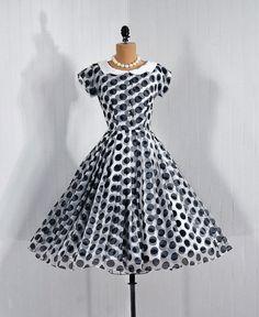 1950's vintage polka-dot dress.