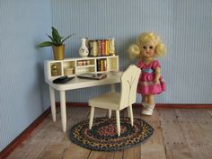 Vintage Hall's Lifetime Toys Doll Furniture  White by TheToyBox