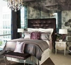 Eclectic Bedroom Master Bedroom Design, Pictures, Remodel, Decor and Ideas - page This is my dream bedroom. Glam Bedroom, Home Bedroom, Bedroom Decor, Bedroom Ideas, Bedroom Inspiration, Fancy Bedroom, Bedroom Photos, Modern Bedroom, Headboard Ideas