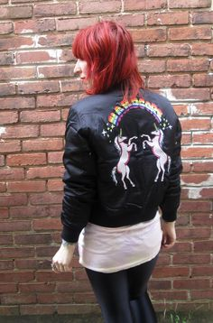 Hardcore! Unicorns! The UNIF Hardcore bomber, $179 at shopblacksalt.com. Silky, lightweight and totally rad.