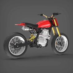Tracker Motorcycle, Scrambler Motorcycle, Custom Motorcycles, Custom Bikes, Dominator Scrambler, Motorbike Design, Power Bike, Motocross Racing, Bike Kit