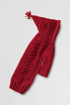 OH MY GOSH! This is cute for christmas     Solid Hooded Pet Sweater from Lands' End