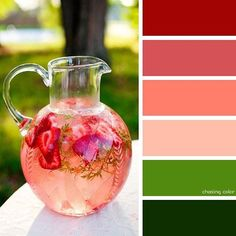 Shades Of Summer Strawberry Lemonade (Photo Credit • www.skinnymom.com) #chasingcolor #colorthemes #colorful #color #palette #colorpalette #shades #tones #hues #colorinspiration #inspiration #creative #art #photography #design #theme #summer #nature #drink #water #fruit #infused #strawberry
