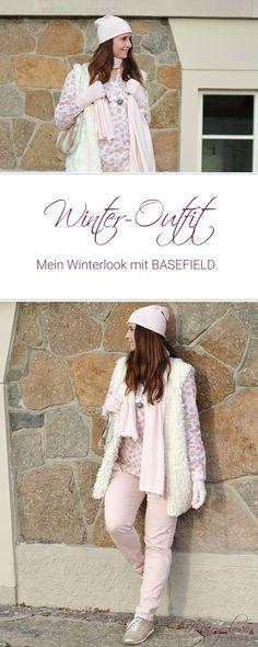 [Outfit] Mein Winterlook mit BASEFIELD - Teddyfellweste im Winter - Weiß und Rosa im Winter kombinieren