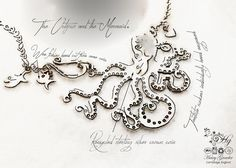 Handcrafted silver coin octopus necklace made in landlocked Cambridge, UK