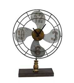 Now available at indie + roe: Metal Fan Clock Check it out here! http://indieandroe.com/products/metal-fan-clock?utm_campaign=social_autopilot&utm_source=pin&utm_medium=pin
