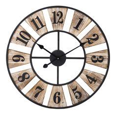 Horloge en métal D 60 cm WOODY