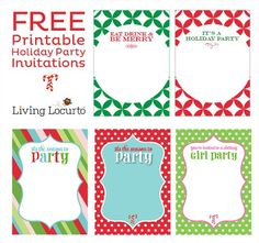 christmas party invitations template free