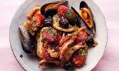 Squid and chorizo couscous