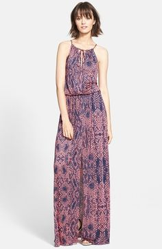 Free shipping and returns on Parker 'Madera' Print Maxi Dress at Nordstrom.com. Saturated snakeskin patterning energizes a floor-grazing maxi dress cut with a shoulder-flattering halter bodice and a long, leg-baring slit.