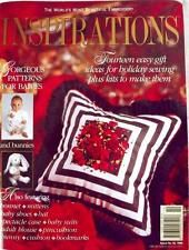 INSPIRATIONS Embroidery RARE Mag #10~Baby Shoes Bonnet Crewel Pincushion~Insert