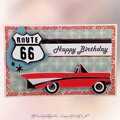 Handmade Birthday card using Nifty Fifties Cricut Cartridge