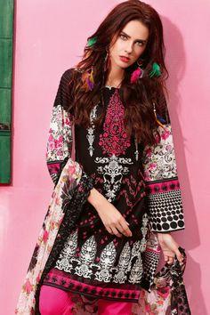 Gul Ahmed 3 Piece Stitched Premium Embroidered Chiffon ...
