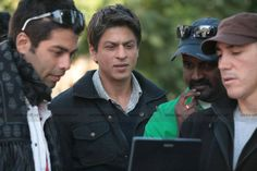 Shah Rukh Khan on the sets of My Name is Khan