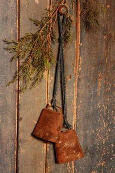 Rusty Bells...sprig of pine.