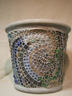 Mosaic Planter for a Brooklyn Brownstone #2 by Blake Sherlock