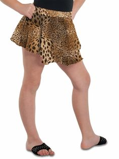 Danshūz Leopard Circle Skirt Style: Glitter accented leopard print chiffon skirt w/ elastic waistband Unlined Irremovable front bow w/ rhinestone Hand wash cold; Print Chiffon, Chiffon Skirt, Girls Dancewear, Dance Wear, Skirt Fashion, Lace Shorts, Skirts, Style, Dancing Outfit