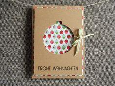 Weihnachtskarte A6 | Handgemacht von höchst originell auf DaWanda.com
