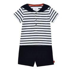 b186c91bd62 J by Jasper Conran Baby boys  navy striped print t-shirt and shorts set