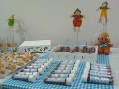 Chá de bebê junino - baby shower - amendoins