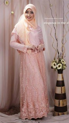 See related links to what you are looking for. Wedding Hijab, Wedding Dresses, Kebaya, Dusty Pink, Muslim, Bridesmaid Dresses, Modern, Image, Beauty
