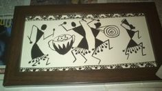 warli Worli Painting, Fabric Painting, Clay Crafts, Arts And Crafts, Indian Artwork, Easy Drawing Steps, Envelope Art, Madhubani Painting, Tribal Art