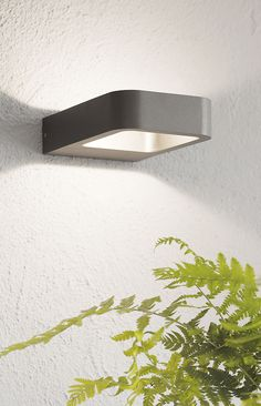 The Beacon Lighting Ledlux Deta 200 Lumen Ip54 Weatherproof Rated Exterior Small Wall Bracket In Charcoal