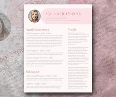Need a design for your resume that will grab the attention of headhunters? This free CV template is definitely what you're looking for. It has the right shade of pink Free Printable Resume Templates, Simple Resume Template, Teacher Resume Template, Creative Resume Templates, Cv Template, Templates Free, Design Templates, Cv Original, Resume Examples