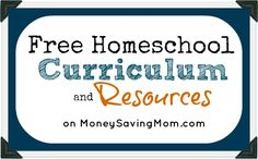 Here's a LONG list of homeschool freebies, printables, resources, and more!