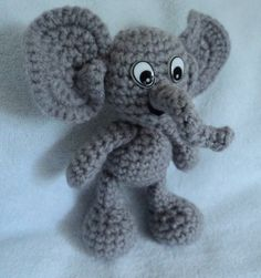 Free Crochet Elephant pattern on my blog. Click picture!