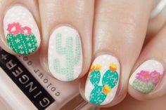 Cactus nails are pretty cute