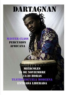 Clase Magistral de Percusión Africana. Noviembre 2014