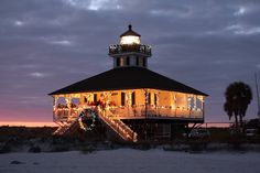 Happy New Year! - Christmas Lights at the Boca Grande Lighthouse in Florida. Holiday Lights, Christmas Lights, Gasparilla Island, Christmas Light Show, Orlando Theme Parks, Florida Holiday, Christmas Light Installation, Lighthouse Pictures, Local Hotels