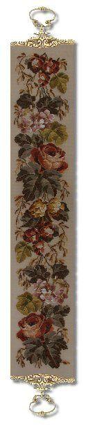 Beverley Trammed Tapestry: Autumn Roses Bellpull