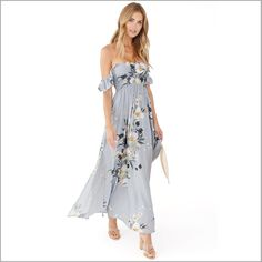 Beautiful floral dresses like the Charlotte dress are a versatile and pretty choice as bridesmaid dresses, a maternity dress or an every day sundress. Off The Shoulder, Shoulder Dress, Shoulder Straps, Charlotte Dress, Bridesmaid Dresses Online, Bridesmaid Robes, Wedding Bridesmaids, Wedding Venue Inspiration, Wedding Ideas