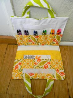 Coloring supplies carrier with directions